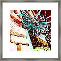 Christmas Lights In Window Framed Print
