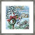 Christmas Mail Framed Print
