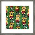 Christmas Teddies Framed Print