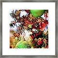 Christmas Tree Ornaments And Decorations Framed Print
