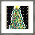 Christmas Tree Polkadots Framed Print