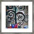 Christmas Tree Swirls And Curls Framed Print