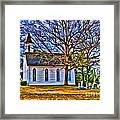 Church In The Wildwood - Paint Framed Print