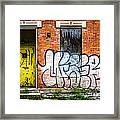 Cincinnati Glencoe Auburn Place Graffiti Picture Framed Print