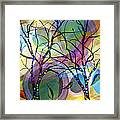 Circle Trees Framed Print