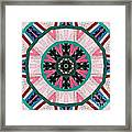 Circular Patchwork Art Framed Print