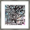 City Art Watercolor Painting Framed Print