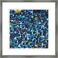 City Mosaic Framed Print