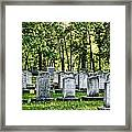 Civitl War Warrior Graves Framed Print