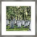 Civitl War Warrior Graves Framed Print by Linda Phelps