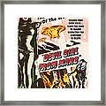 Classic Devil Girl From Mars Poster Framed Print