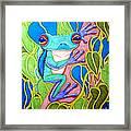 Climbing Tree Frog Framed Print