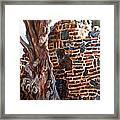 Clinker Wall Framed Print