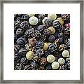 Close Up Background Of Multi Color Peppercorn Framed Print