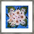 Close Up Of White Daisy Bouquet Framed Print