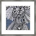 Close Up Owl Denim Framed Print