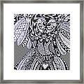 Close Up Owl Grey Framed Print