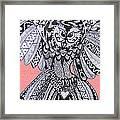 Close Up Owl Pink Framed Print