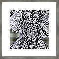 Close Up Owl Tartan Framed Print
