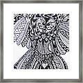 Close Up Owl White Framed Print