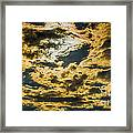 Cloudy Sky Over Calvary Cemetery Framed Print