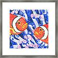 Clownfish Couple Framed Print