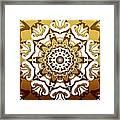 Coffee Flowers 10 Calypso Ornate Medallion Framed Print