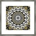 Coffee Flowers 10 Olive Ornate Medallion Framed Print