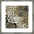 Coffee Flowers 9 Olive Framed Print