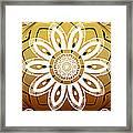 Coffee Flowers Calypso Triptych 2 Horizontal   Framed Print