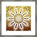 Coffee Flowers Medallion Calypso Triptych 2  Framed Print