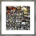 Coffee Pots At The Grand Bazaar In Istanbul Turkey Framed Print