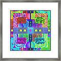 Cognitive Quilt Framed Print