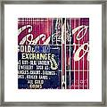 Coke And Gold Framed Print