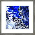 Cold Crescent Moon Phase Framed Print