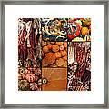 Collage - Corn - Pumpkins - Gourds - Elena Yakubovich Framed Print