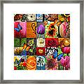 Collage Of Happiness  Framed Print by Mark Ashkenazi