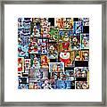 Collage Snowman Horz Photo Art Framed Print