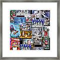 Collage Xmas Cards Vertical Photo Art Framed Print