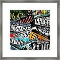 Collision Of States Framed Print