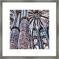 Colonnade And Stained Glass No2 Framed Print