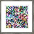 Color Filled Abstract Framed Print