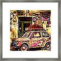 Color On The Road In Krakow- Poland Framed Print