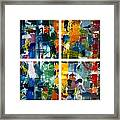 Color Relationships Collage Framed Print
