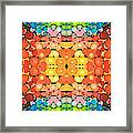 Color Revival - Abstract Art By Sharon Cummings Framed Print