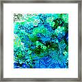 Color Wash Abstract In Blue Framed Print