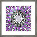 Colored Foil Lily Kaleidoscope Under Glass Framed Print