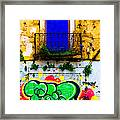Colored Wall Framed Print