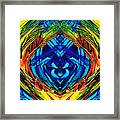 Colorful Abstract Art - Purrfection - By Sharon Cummings Framed Print