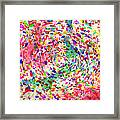 Colorful Abstract Circles Framed Print